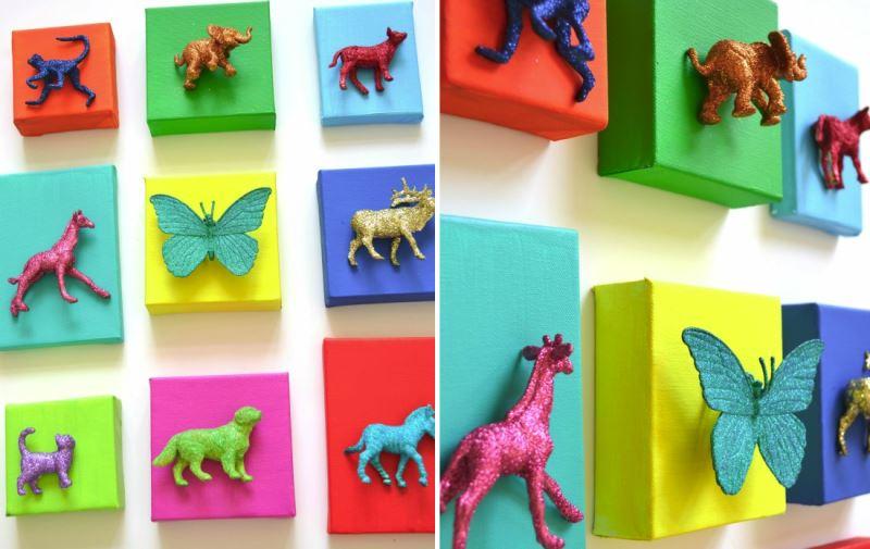 DIY animal art from Cakery & Papery
