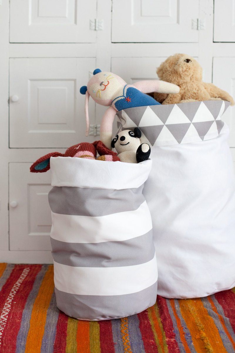 DIY fabric storage bins from A Beautiful Mess