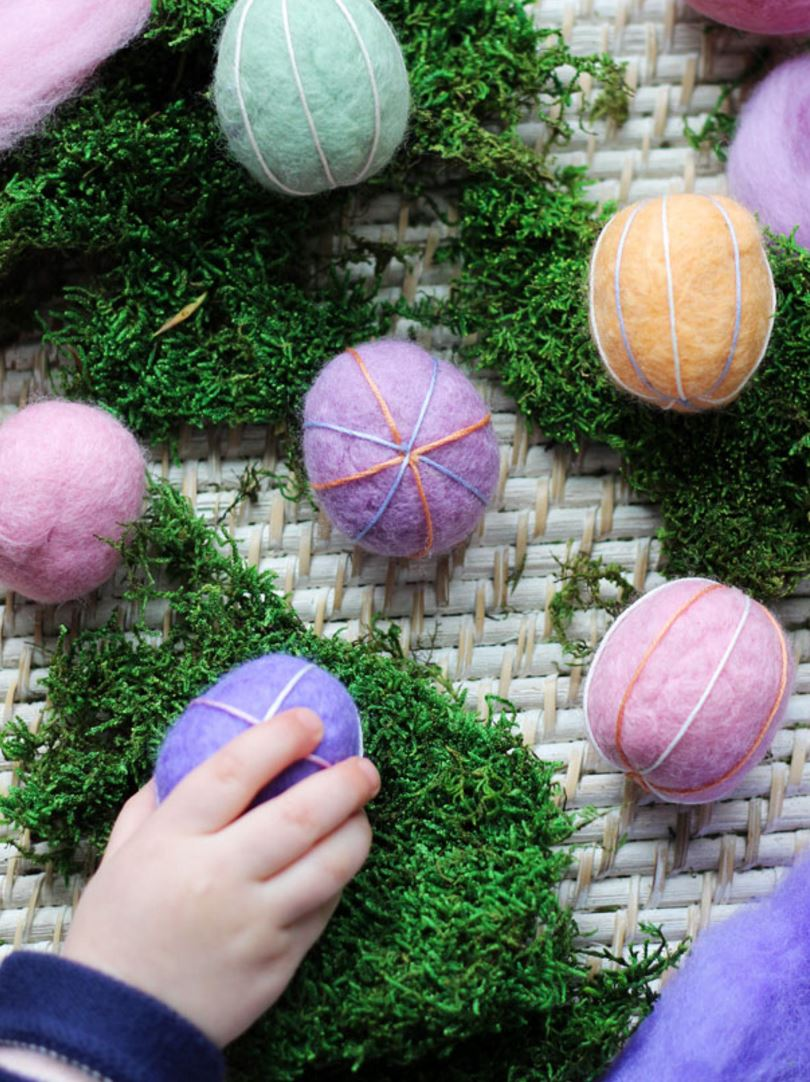 DIY felt Easter eggs for kids