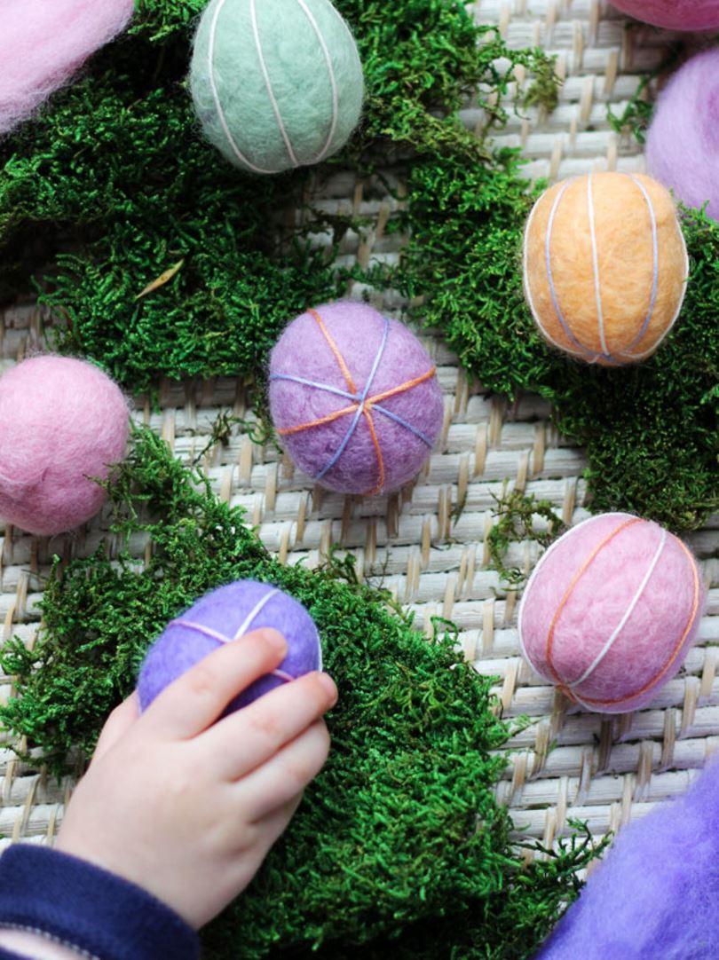 DIY felt Easter eggs for kids
