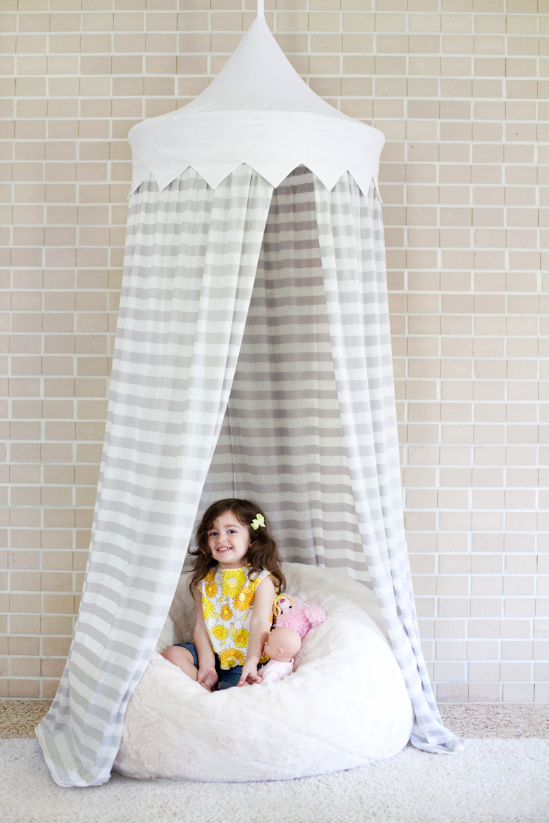 DIY hula hoop tent from A Beautiful Mess