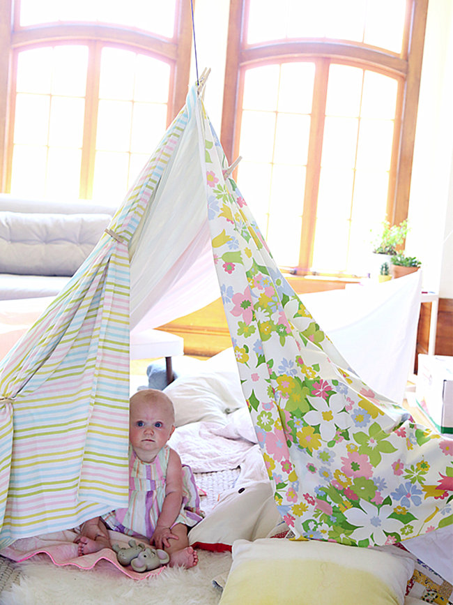 DIY living room fort from Say Yes