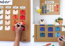 DIY paint chip calendar from Say Yes