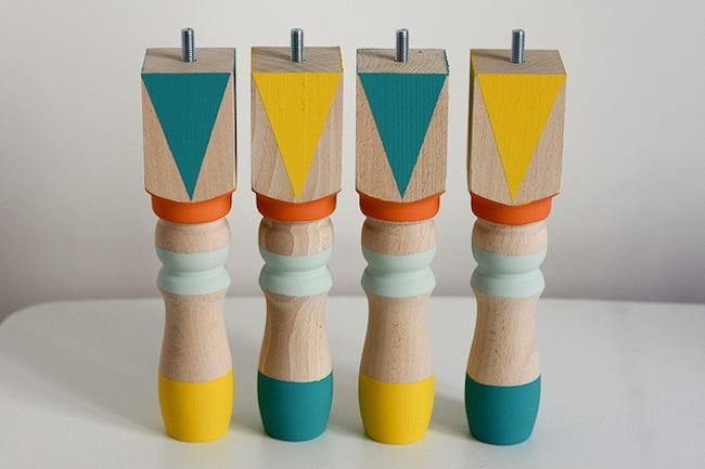 DIY painted furniture legs from Bob Vila