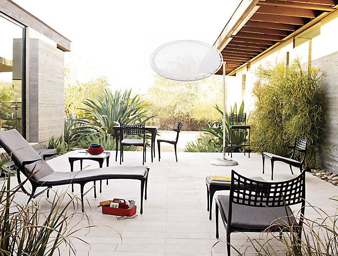 design within reach outdoor furniture. view in gallery dark adjustable chaise lounge from design within reach outdoor furniture
