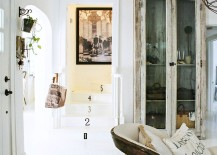 Decor, artwork and vintage accessories create a cool, shabby chic style