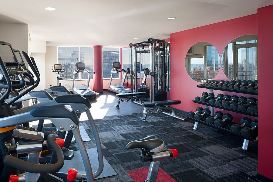 Dedicated modern gym at The Martin