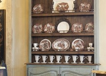 Dining room hutch is the perfect place to showcase your best china come holiday season and beyond