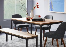 Dining room table from West Elm