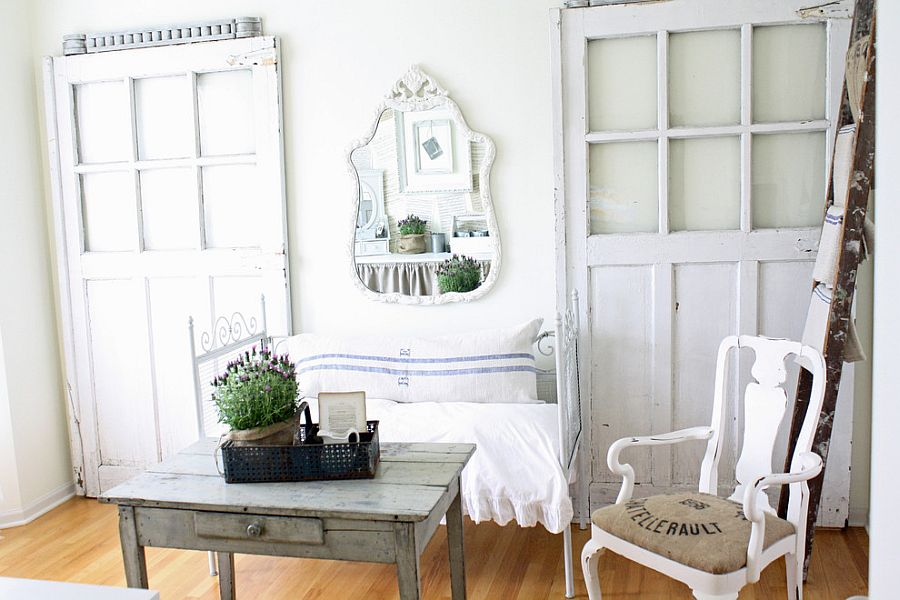 Eclectic home office with shabby chic overtones [From: French Larkspur]