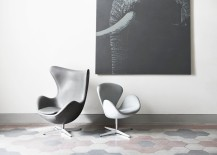 Egg and Swan chairs