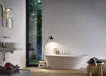 Elegant bathtub at the beart of Fonte Collection 217x155 Fonte and Esperanto: Bathroom Décor Brings Home Spa Style Refinement