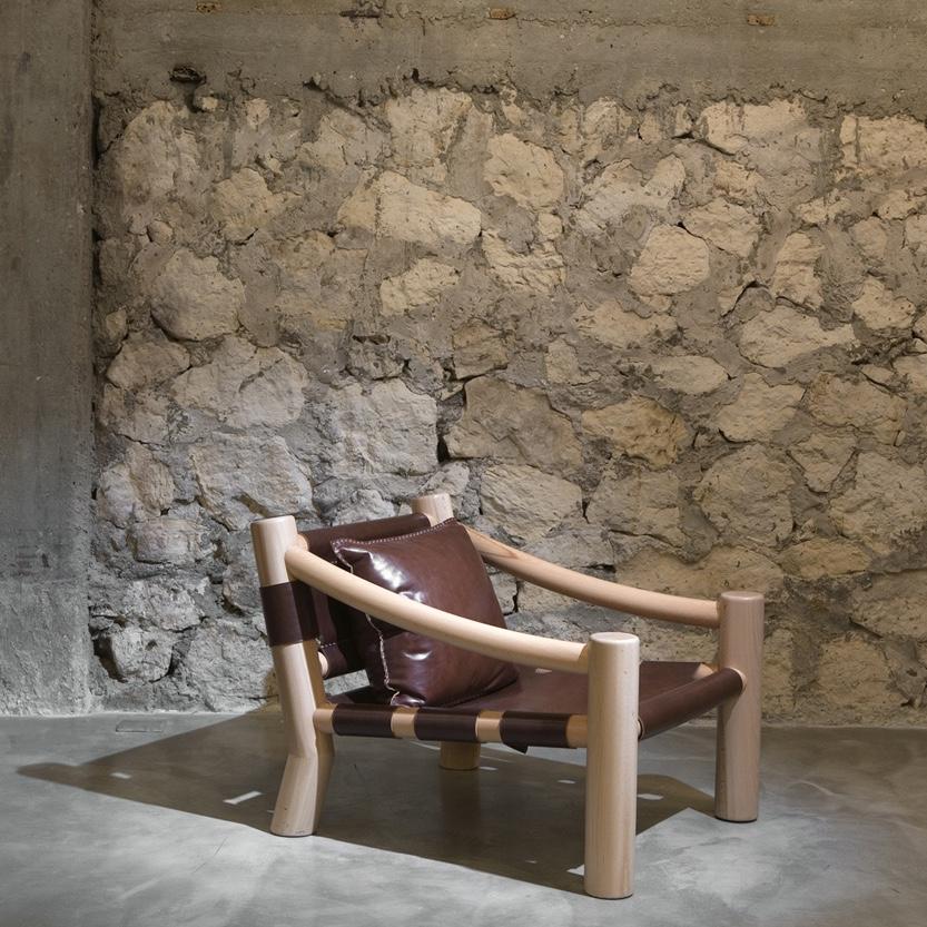 Elephant armchair by Karen Chekerdjian Studio