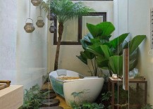 Embracing your love for greenery with a vivacious, plant-filled bathroom