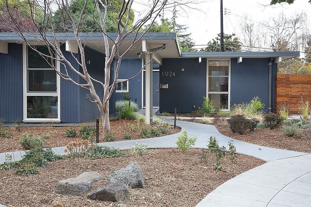 Exterior of the renovated Eichler home in San Francisco