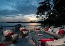 Fabulous beach style deck next to Lake Norman
