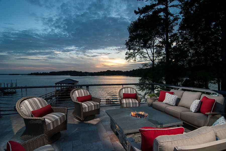 Fabulous beach style deck next to Lake Norman