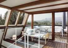Fabulous rooftop sunroom also doubles as dining zone