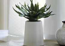 Faux potted aloe plant from CB2