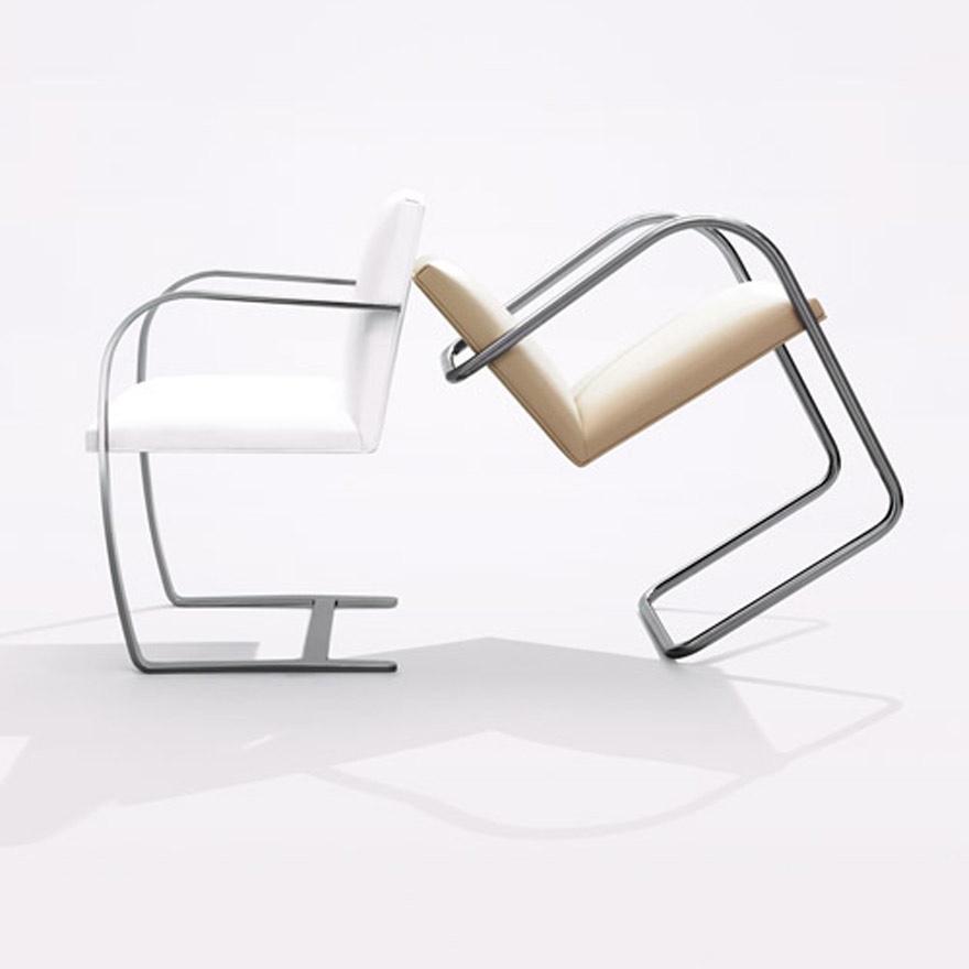 Flat Bar and Tubular Bar Brno Chair