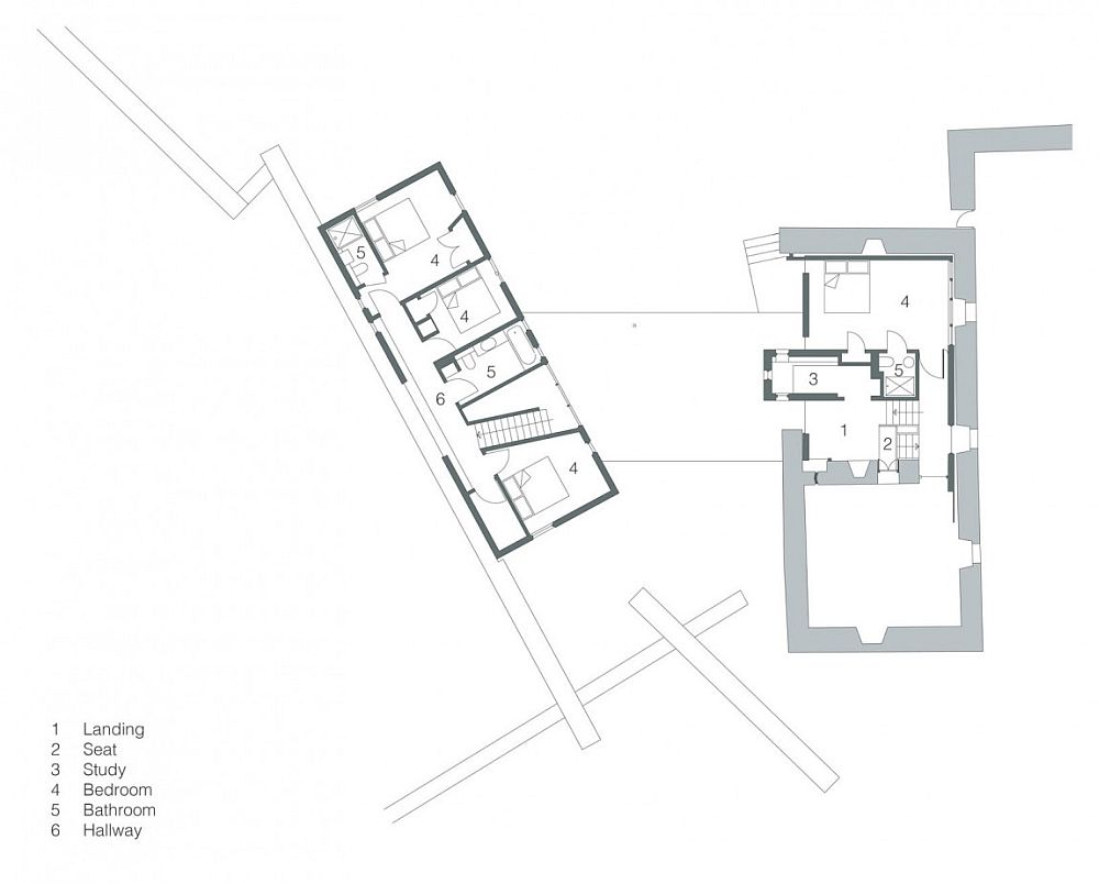 Floor plan of Second level of White House