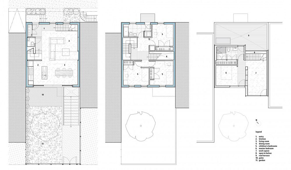 Floor plan of the Alma Street Duplex after extension