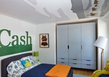 Fun way of adding color to the kids' bedroom without comitting to it fully