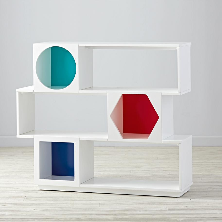 Geo bookshelf from The Land of Nod