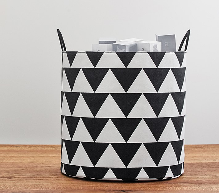 Geo storage bin from Pottery Barn Kids