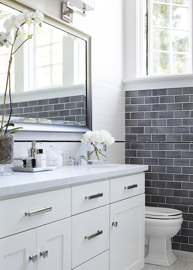 Top bathroom trends set to make a big splash in 2016 for White and gray bathroom ideas