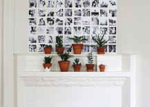 Grid photo wall display from A Beautiful Mess