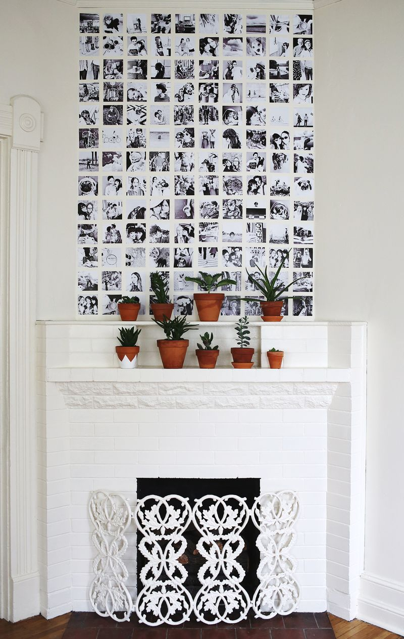 Black And White Polaroid Wall