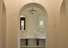 Hallway view to an elegant eclectic bathroom 217x155 Through the Doorway: 10 Rooms with an Interior View