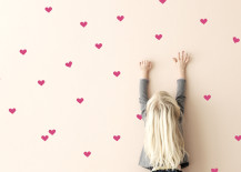 Heart wall stickers from ferm LIVING 217x155 20 Home DIY Projects Designed with Kids in Mind
