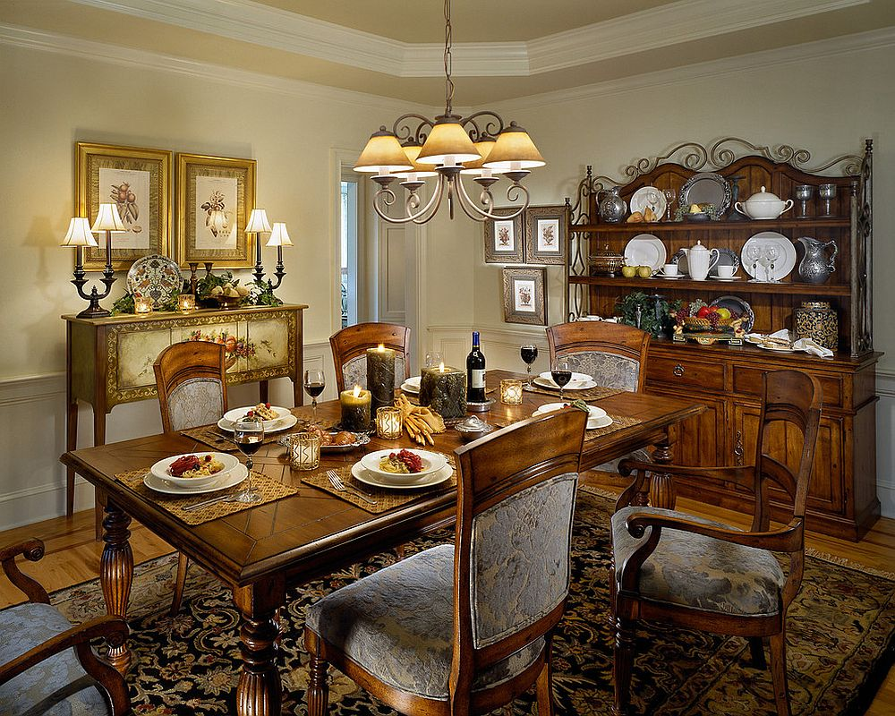 30 delightful dining room hutches and china cabinets for Traditional dining room art