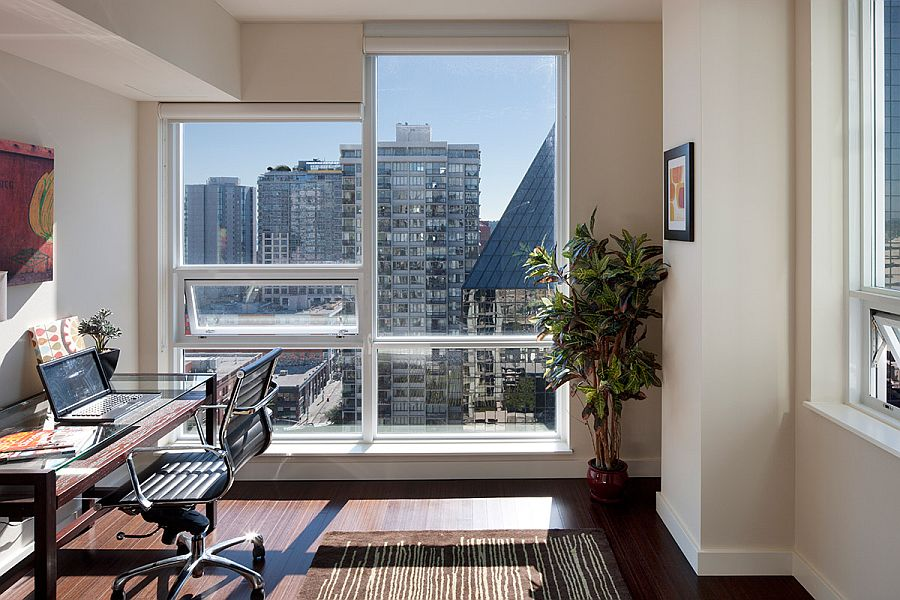 Home office blessed with ample natural light