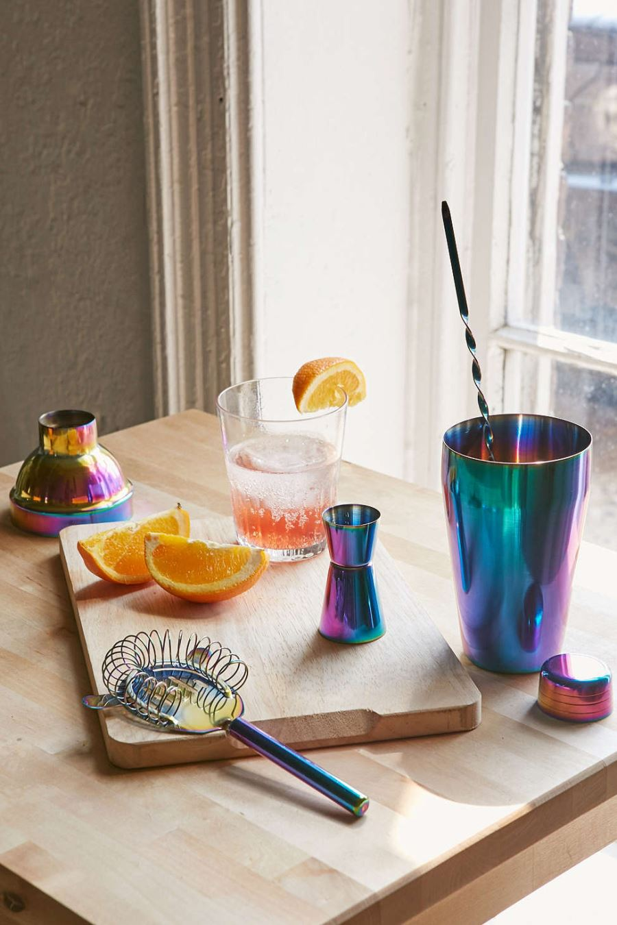 Iridescent barware kit from Urban Outfitters