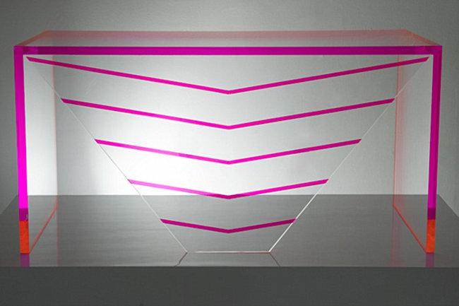 Acrylic desk from Alexandra Von Furstenberg