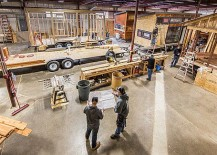 Making of tiny homes at the Escape factory