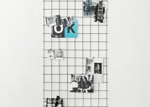 Metal grid photo display from RH Teen