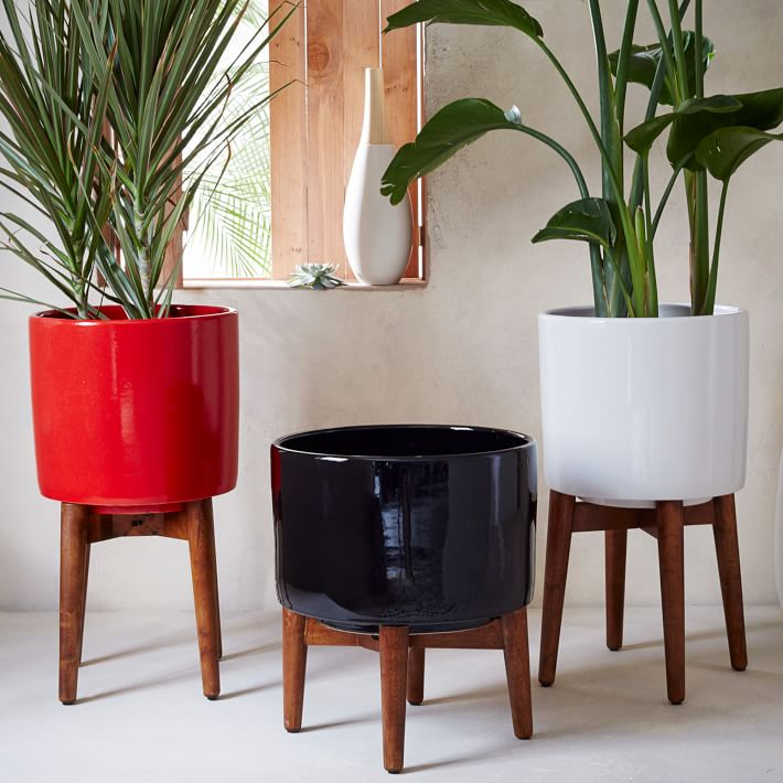 Mid-Century planters from West Elm