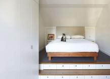 Minimal and modern, space-saving bedroom design