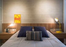 Modern industrial apartment bedroom design