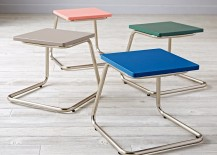 Modern stools from The Land of Nod