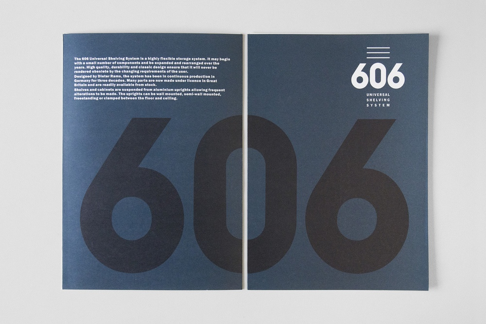 Neville Brody Vitsœ 606 booklet cover