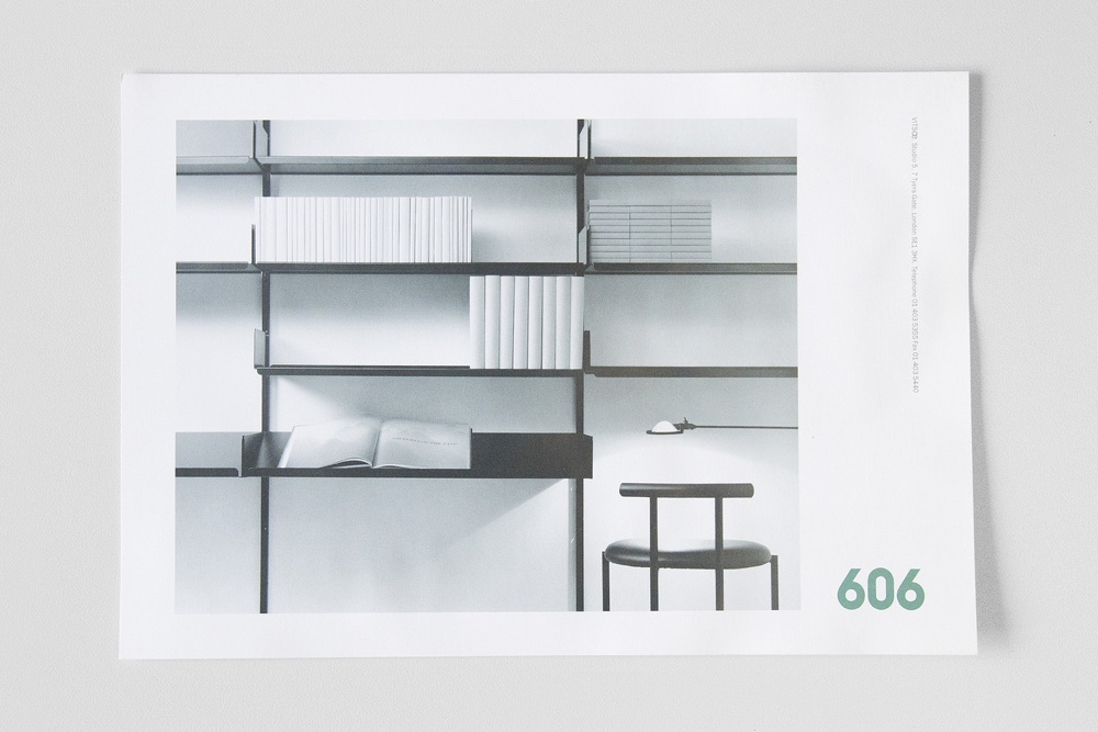 Neville Brody Vitsœ 606 booklet shelving pic