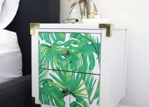 Nightstand makeover from A Beautiful Mess