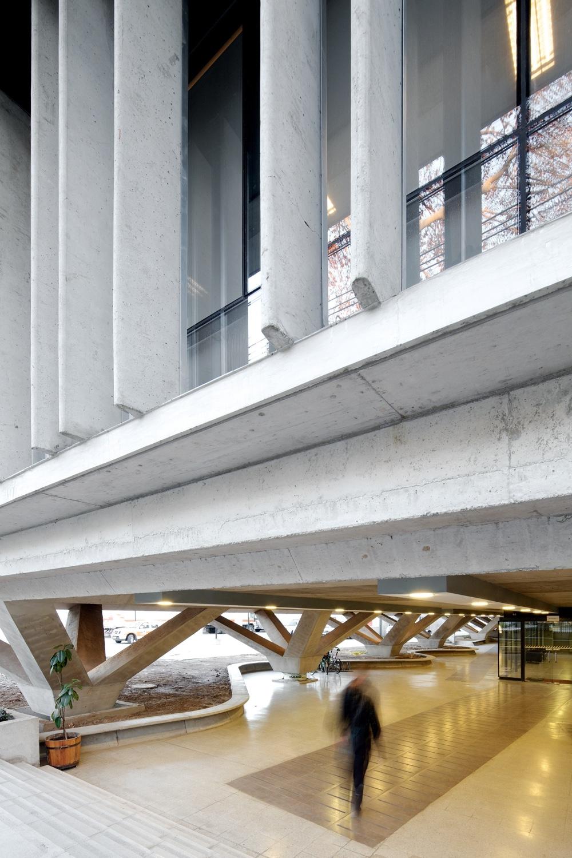 ONEMI Building concrete facade