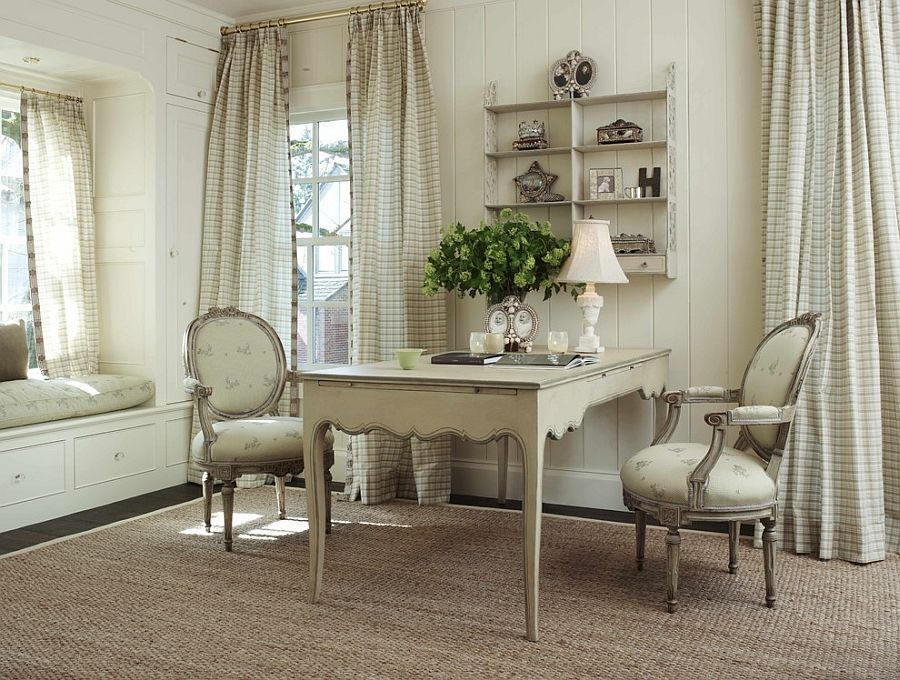 ... Off White Gives The Home Office A Shabby Chic Look [Design: Warmington U0026