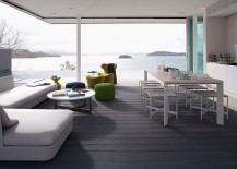 Open living areas around the water features allow you to take in the majestic view 217x155 Azuris: Enthralling Ocean View Residence Nestled on Hamilton Island